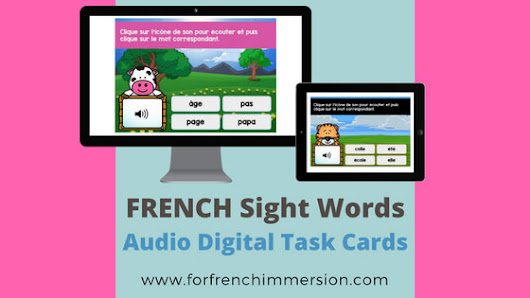 French Sight Words Digital Task Cards - For French Immersion