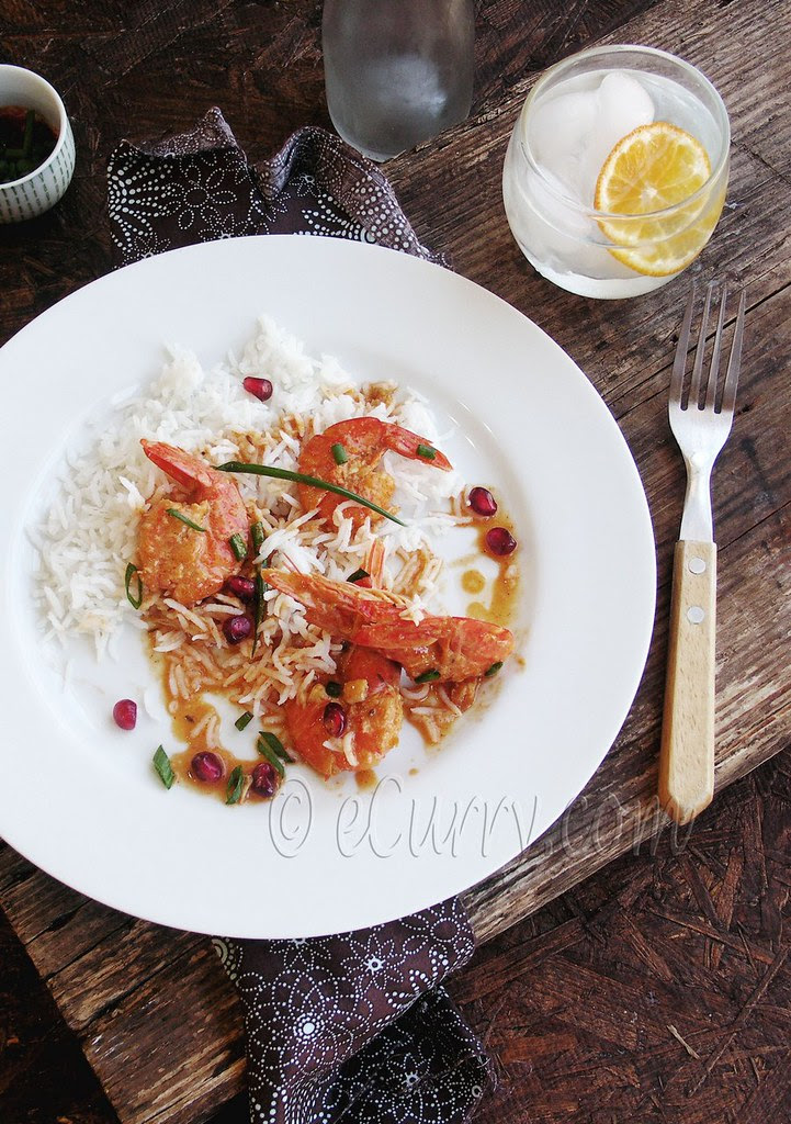Shrimp with Pomegranate and Coconut Milk 4