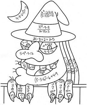 7th Grade Math Halloween Worksheets