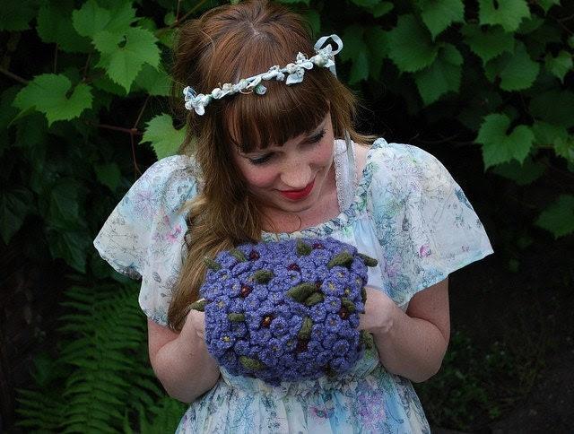 tiny violet hand puff CROCHET/knitting PATTERN