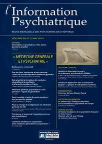 L'information psychiatrique 2014/5