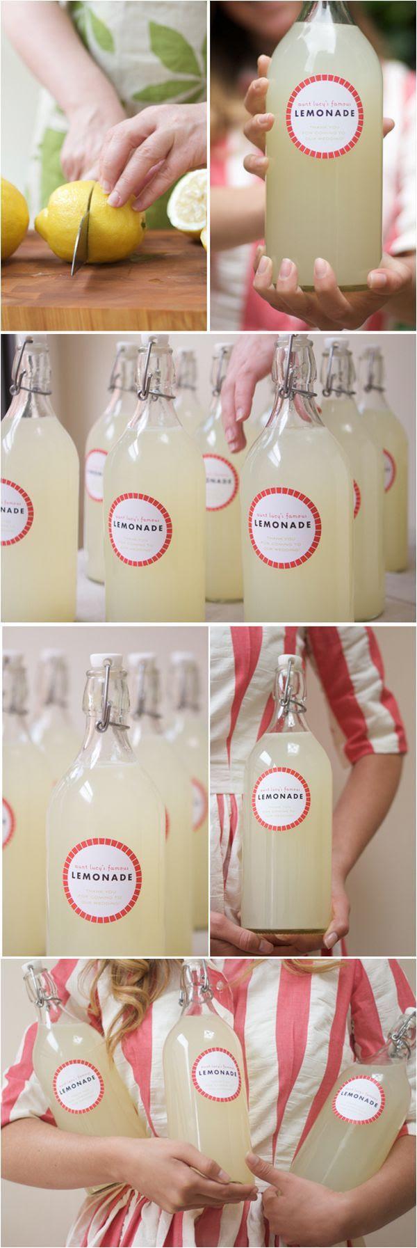 DIY Lemonade Wedding Favors