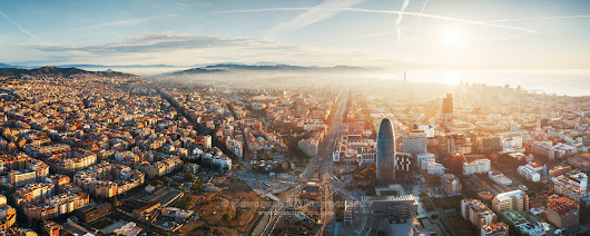 Aerial View, Barcelona, Spain