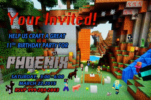 Printable Minecraft Birthday Party by VerticalChallangeMoM on Etsy