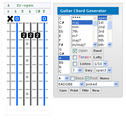 Bass Gootar Guitar Chord Generator And Scale Finder Programs 86 724 401 Million Chords