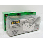 12 Scotch Magic Tape 3/4 X 1500 Rolls with Gray Desktop Dispenser MISSING SPINDLE