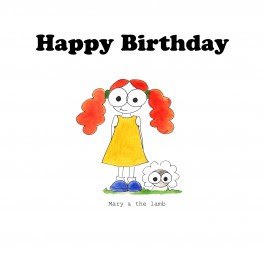 Happy Birthday Mary And Her Little Lamb Alphabets And Animals