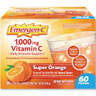 Emergen C Flavored Fizzy Drink Mix, 1000 mg Vitamin C, Super Orange - 60 pack, 0.3 oz packets