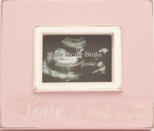 Love At First Sight Sonogram Frame In Pink Ladies In Waiting