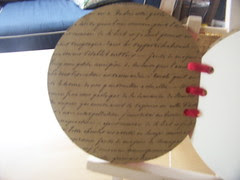 Altered Round Book (inside covers)