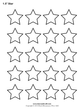 Printable Star Templates | Free Blank Star Shape PDFs