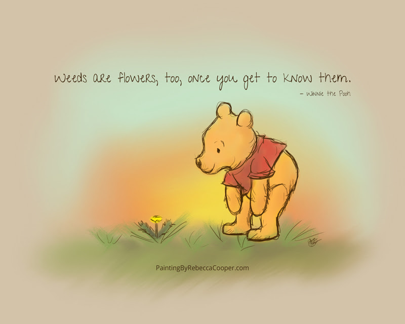 Weeds Are Flowers Too Once You Get To Know Them Winnie The Pooh