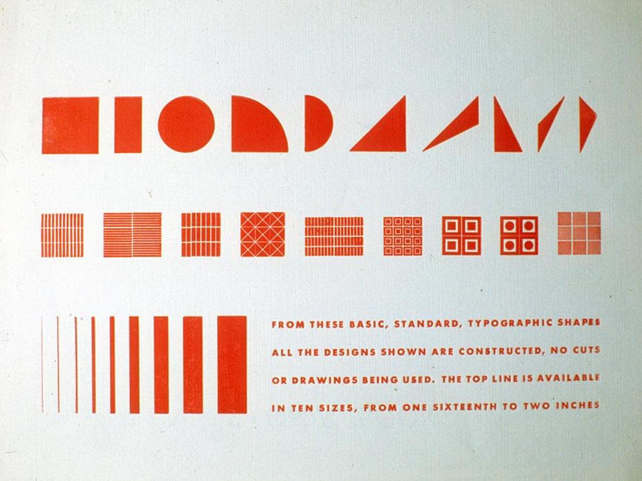 From These Basic, Standard, Typographic - design by Alvin Lustig