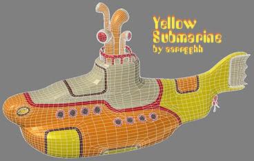 yellow submarine wireframe