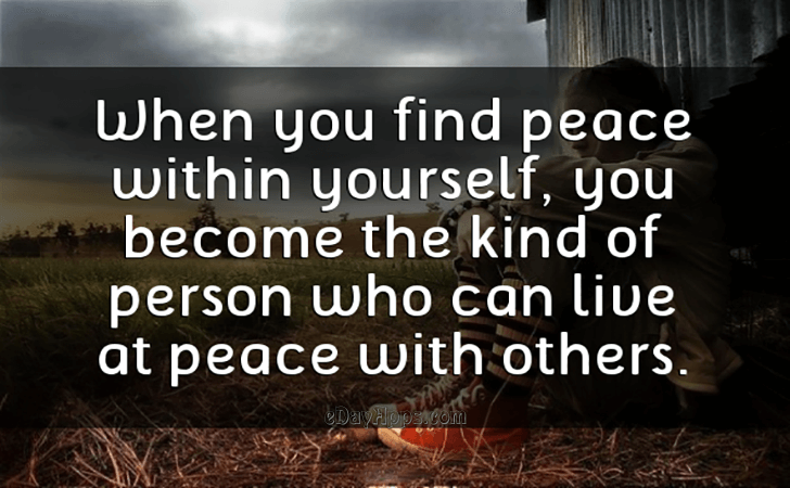 Quotes Best Of When You Find Peace Within Yourself