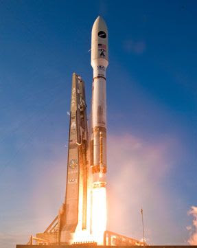 The Atlas V rocket carrying the X-37B Orbital Test Vehicle (OTV) is launched from Cape Canaveral Air Force Station in Florida, on March 5, 2011.