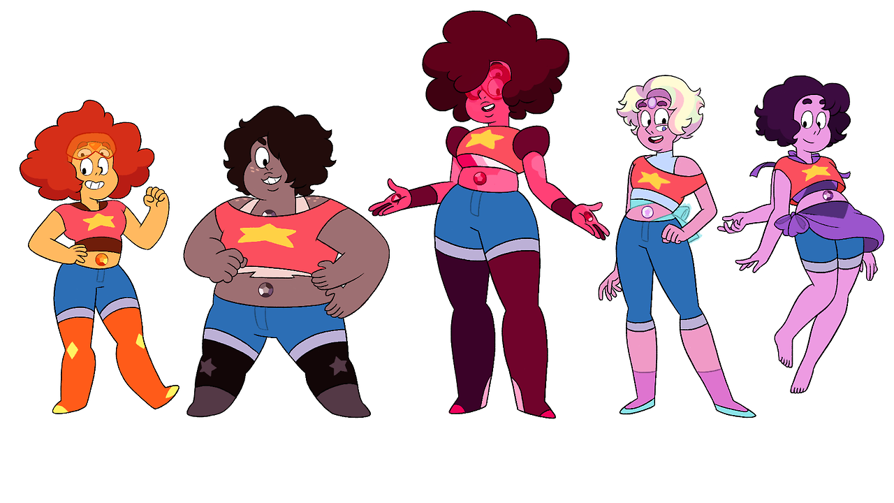 I revamped some of the Steven/Crystal Gem fusions I did awhile back because… well I didn't like a lot of things about them. Obviously they'll all be proven wrong when the canon fusions eventually come...