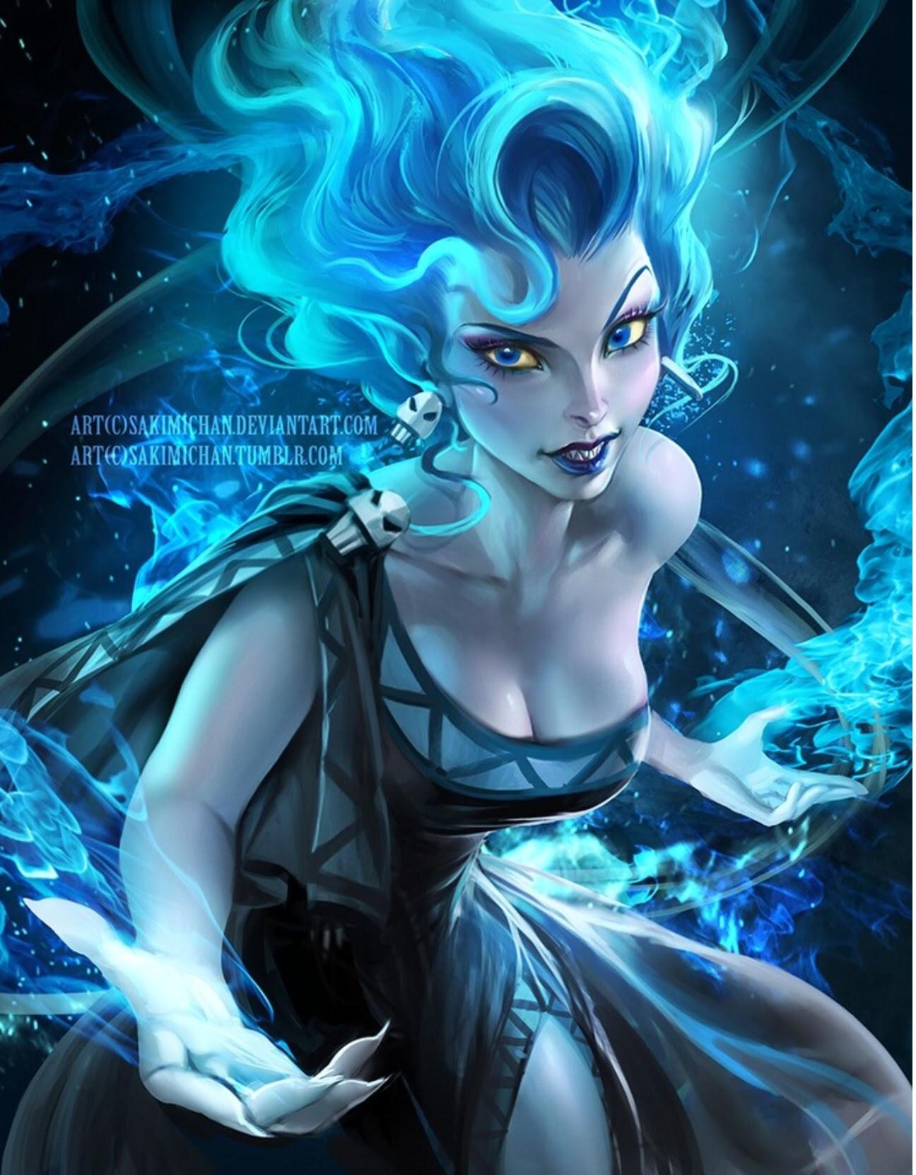 冥王ハデス女 海外イラストレーターsakimichanの描く綺麗すぎる