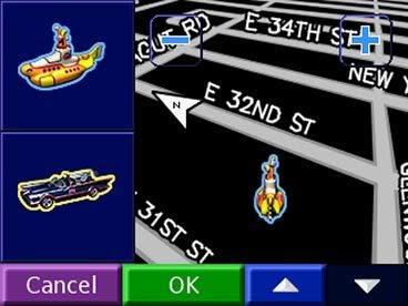 nüvi vehicle menu