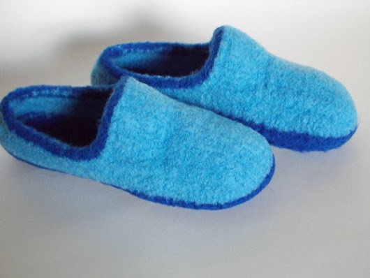 Womens Felted Wool Loafers MoccasinsHouse by hotflashknitting