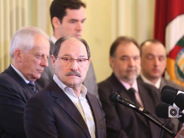 Governador José Ivo Sartori discursou no Palácio Piratini (Foto: Governo do estado/Divulgação)