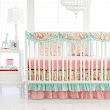 Paisley Crib Rail Cover Bedding Set | Sweet Pink Paisley Bumperless Collection