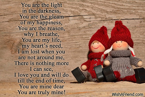 You Are Mine I Love You Poem