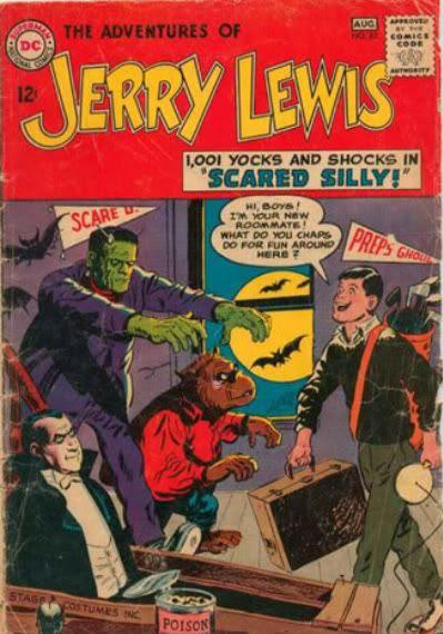 Jerry Lewis Dracula Wolfman Frankenstein Monster