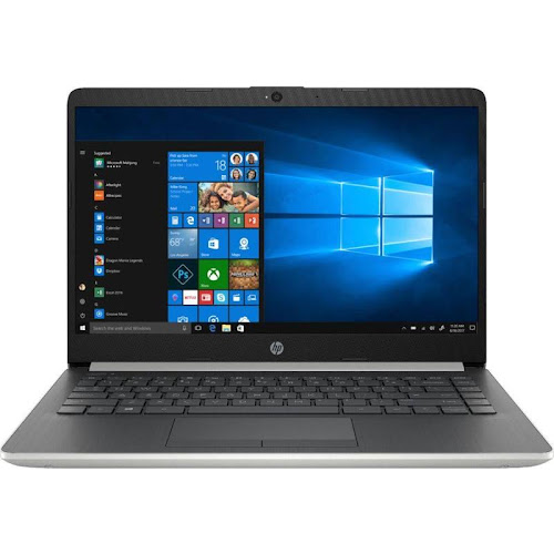 "HP - 14"" Laptop - Intel Pentium Gold - 4GB Memory - 128GB Solid State Drive - Ash Silver Keyboard Frame"