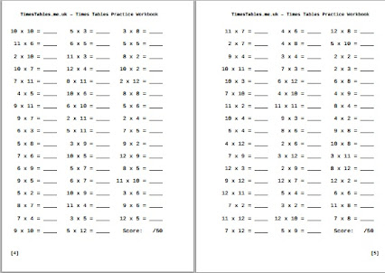 Times Table Worksheets - Laptuoso