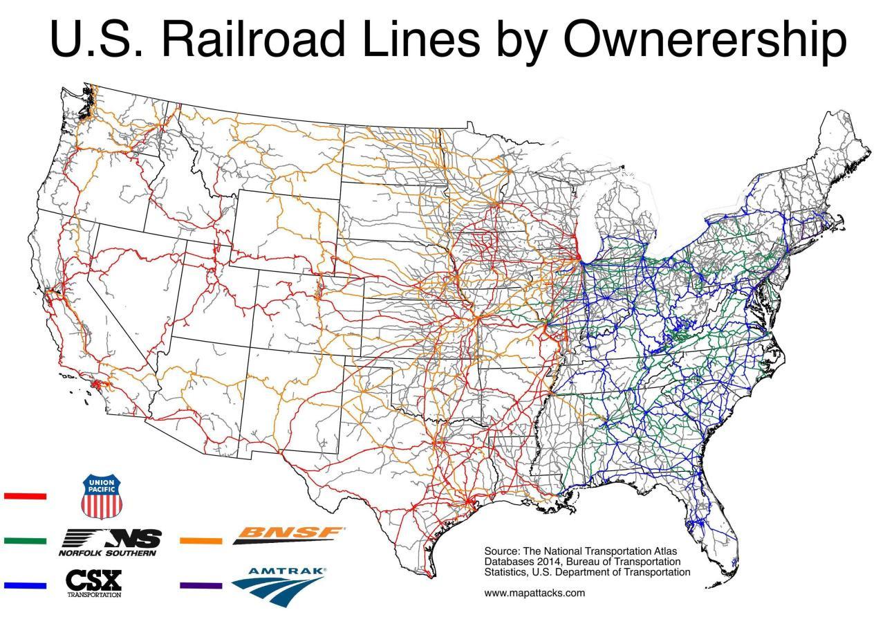 Us Railroad Map 2015 Us Railroad Map 2015