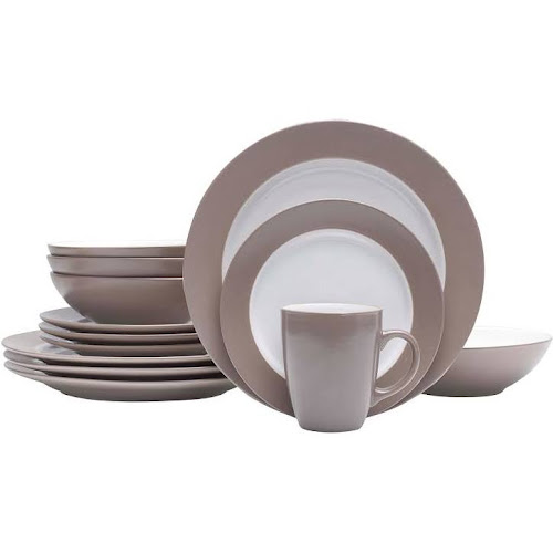 Google Express - Food Network Applewood 16-pc. Dinnerware Set - Taupe