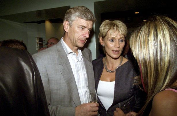 Arsene Wenger and his wife Annie Brosterhous