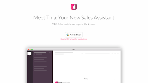 Tina: Hi, I'm Tina, your new personal, virtual assistant.
