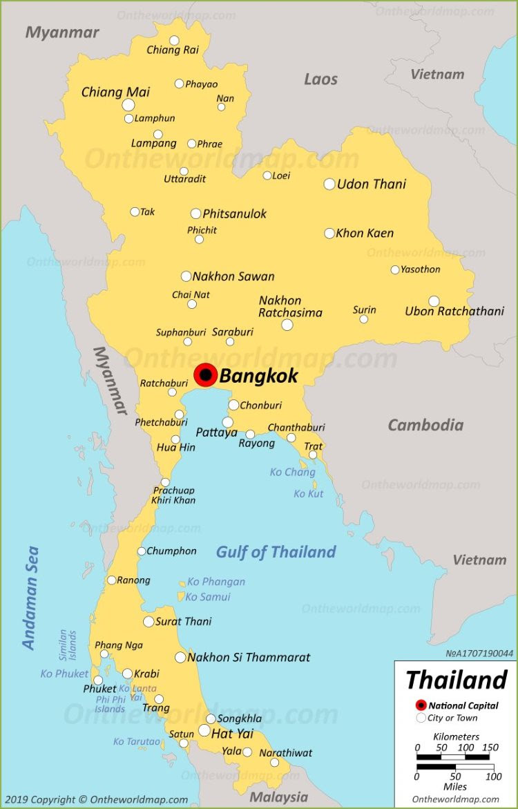 Maps of the World: Map Of Thailand And Bangkok