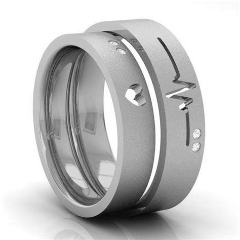 Couple Wedding Bands ? HEARTBEAT ? Kreeli Jewellery