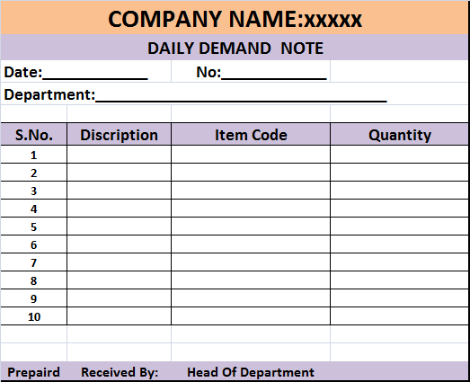 Daily Demand Report Template – Free Report Templates