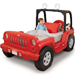 Little Tikes Jeep Wrangler Toddler to Twin Bed, Red
