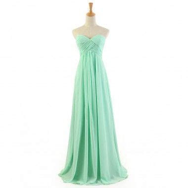 Buy Modern Simple Long Green Chiffon Prom Dresses/Evening