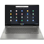 "HP - 2-in-1 14"" Touch-Screen Chromebook - Intel Core i3 - 8GB Memory - 64GB eMMC Flash Memory - Mineral Silver"