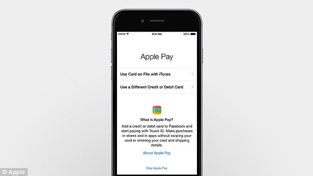 Apple Pay uses the Passbook app and cards that are already on file with iTunes can be saved to it (pictured) Users can also take a picture of their own credit card and add it to the account. This is verified by the card¿s bank before being accepted
