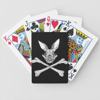 bunny cross bones playing cards