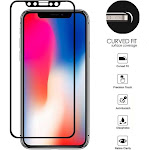 Insten Curved Fit Tempered Glass Screen Protector Film Cover For Apple iPhone X XS 10 (Precision Touch, Anti-Scratch, Olephobic Coating, Retina
