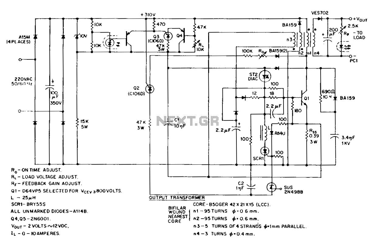 dc power supply wiring diagram