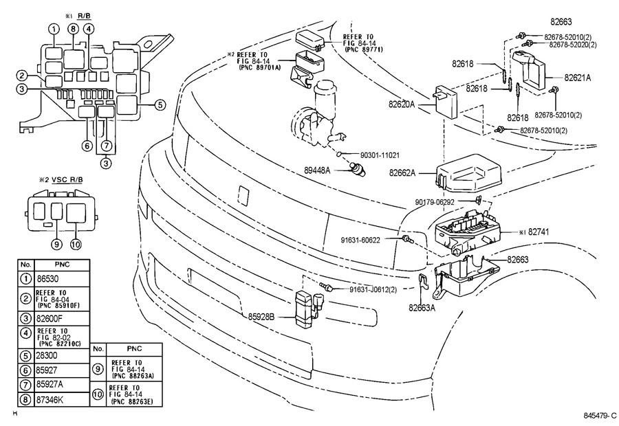 2005 Scion Xb Fuse Box Diagram