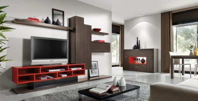 Modern Living Room Decoration With Minimalist Lcd Tv Cabinet Design