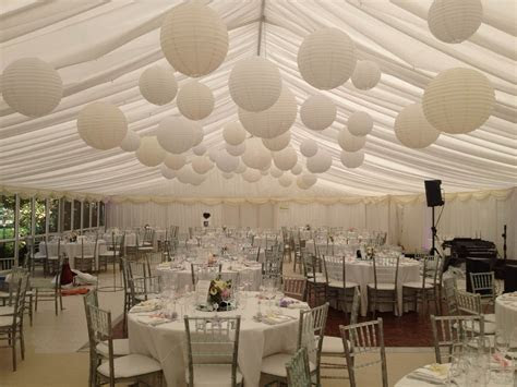 Cluster of white, cream and nude coloured paper lanterns