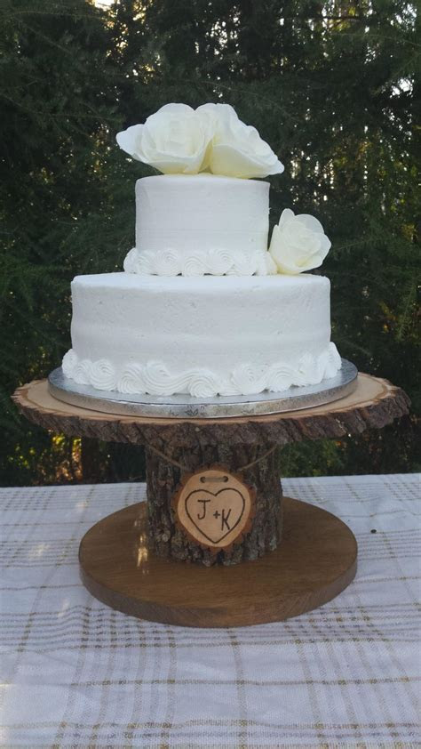 Wood Cupcake Stand, Personalized Cake Stand, Log Cake