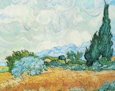 Vincent Van Gogh Cypress Trees