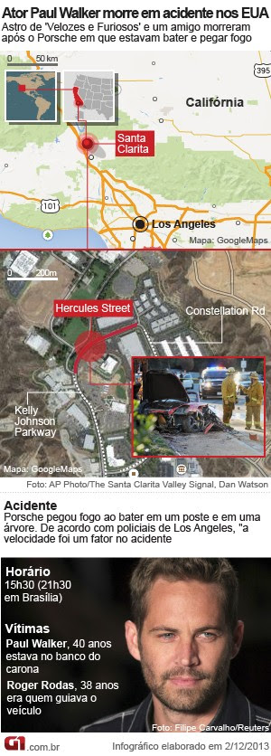 MAPA Paul WAlker (2/12) (Foto: Editoria de Arte/G1)